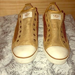 UGG gold sequin sneakers